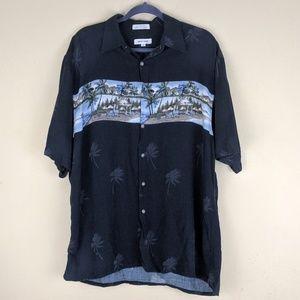 Pierre Cardin Men's Floral Beach Shirt Rayon Large